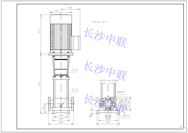 cdl42-10-1多级泵结构图