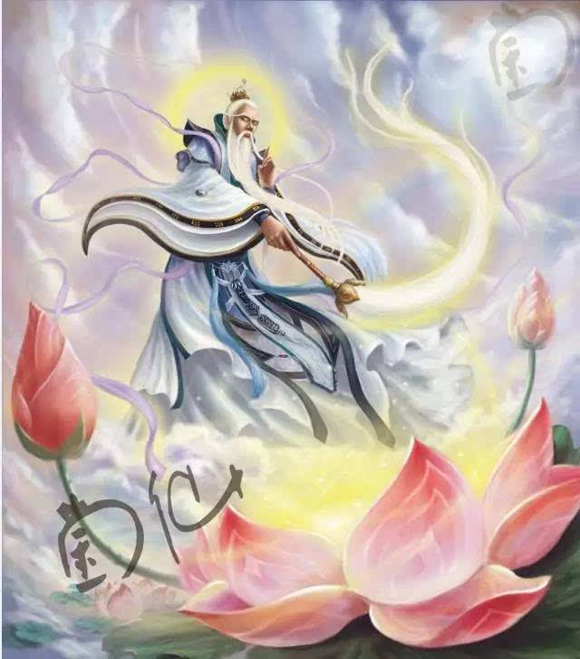 收徒一名—哪吒,以莲花为哪吒重塑肉身,传授哪吒三头八臂,并传授给他图片