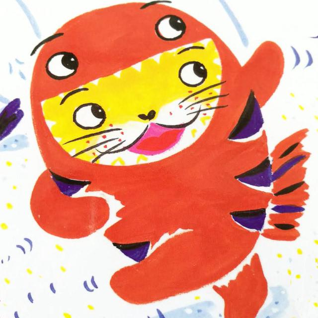 手绘动画小猫奔跑gif