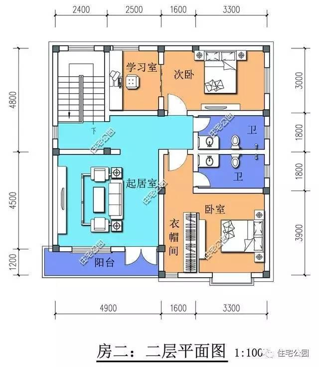 微信公众号:住宅公园,免费450款农村自建房图纸,建筑师别墅作品展示