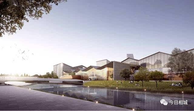 项目采用钢结构与混凝土结构,利用绵延坡屋顶,花格墙,庭院,连廊等打造图片