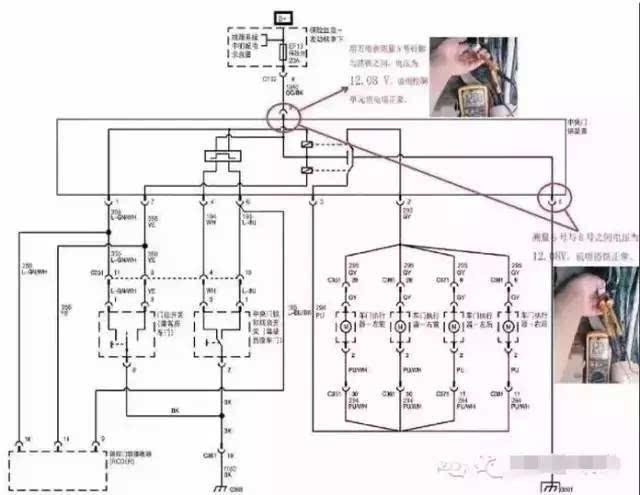 凯越仪表总成电路图