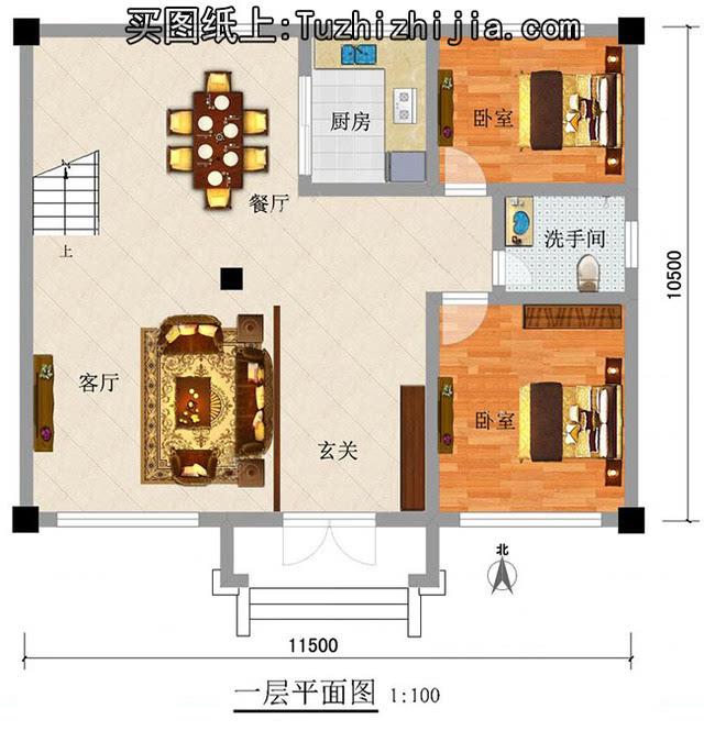 农村自建房120平方房子设计图图片