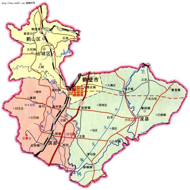 鹤壁全貌地图图片