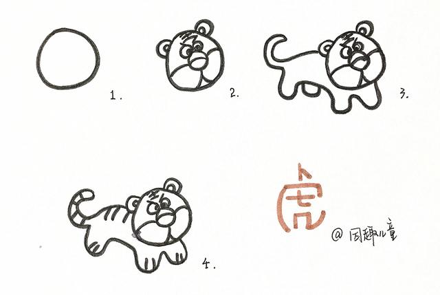 """""""十二生肖""""简笔画图片"""