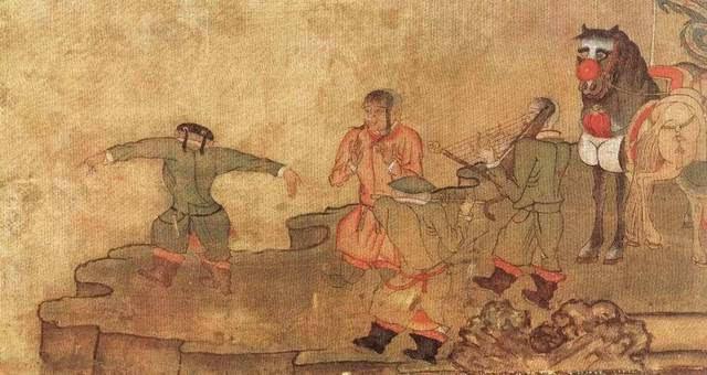 即头发束自太阳穴下,此发型系效仿契丹人的发式,由西夏国王元昊颁布图片