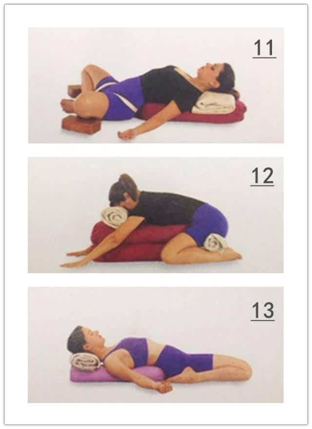 virasana 这个体式能放松身心,起到减压,缓解眼部疲劳,镇静神经和静心图片