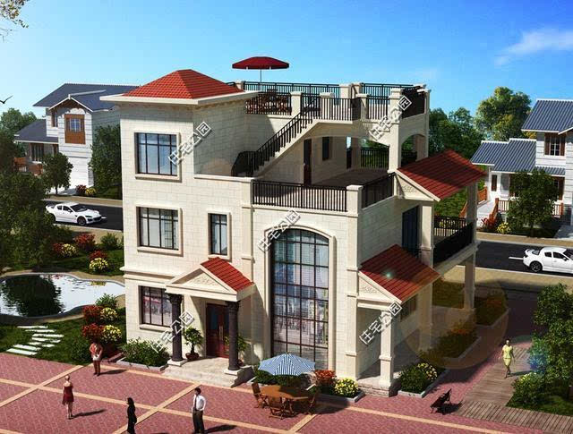 12X13米农村别墅设计,造价25万,实用