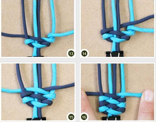 红绳手链 漂亮的宽版手链编法图解