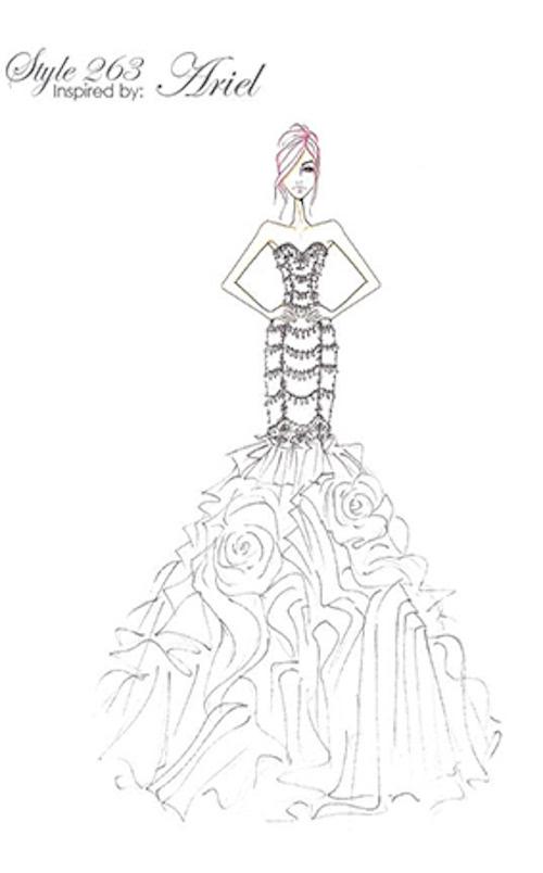 迪士尼公主婚纱2016新系