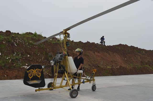 国内旋翼机爱好者自制的旋翼头轴承和夹板图片