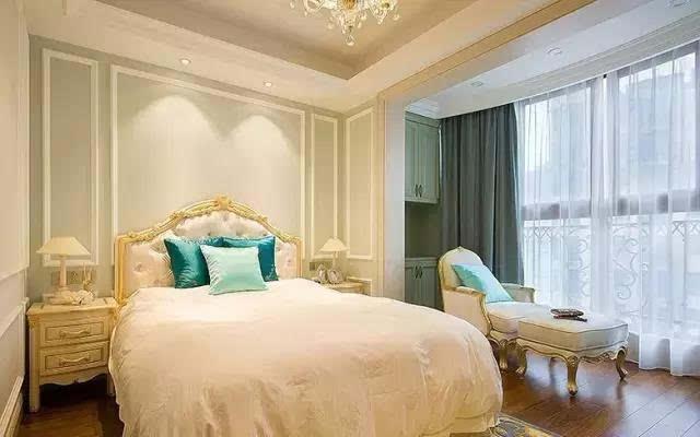 协调了空间的比例,塑造了个性化的卧房风格 各种装饰材料混搭,背景墙图片