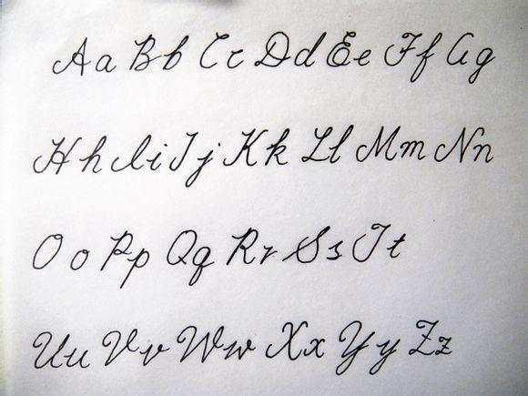 英文花体字 英语书法欣赏 补充英文26字母发音