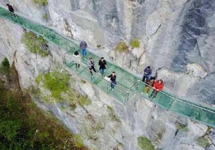 这条广西最长的玻璃栈道,90%桂林人光图片