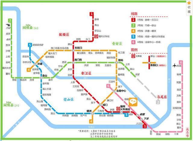 35公里,设车站29座,包括福州火车站,岳峰镇,长乐北路,三叉街,盘屿路