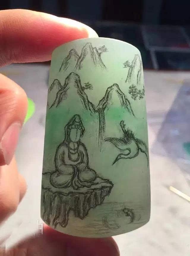 玉雕作品手绘素材欣赏