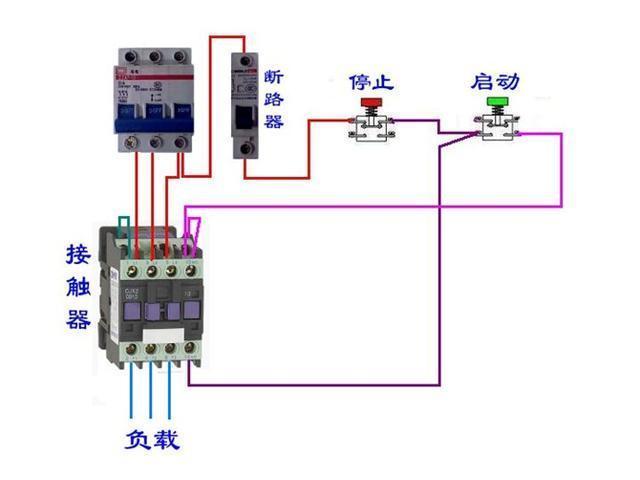 从图2可以看出3相电源通过转换开关经过保险丝至接触器输入端.