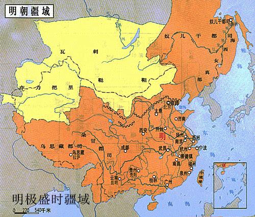 此后各中原王朝大体以这340万平方公里的版图为基础,对边疆地区的控制