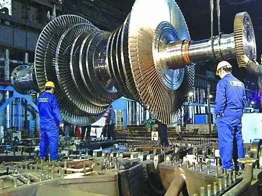 当时的电厂多用德,英,日的锅炉,汽轮机,发电机