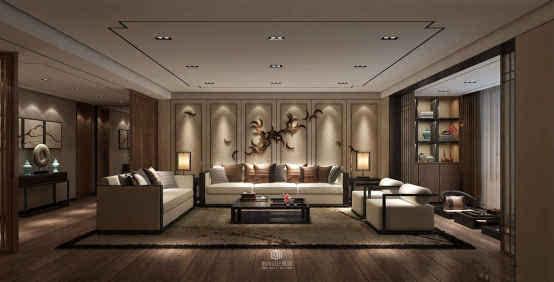 博腾小课堂:新中式木饰面板背景墙好吗?图片