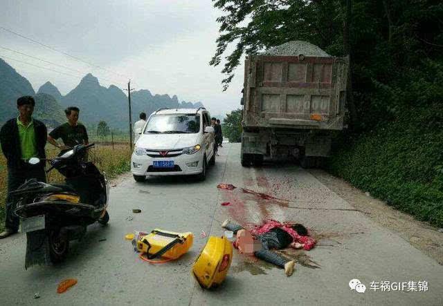 近距离拍恐怖车祸,她就在眼前掉落,碾成片了