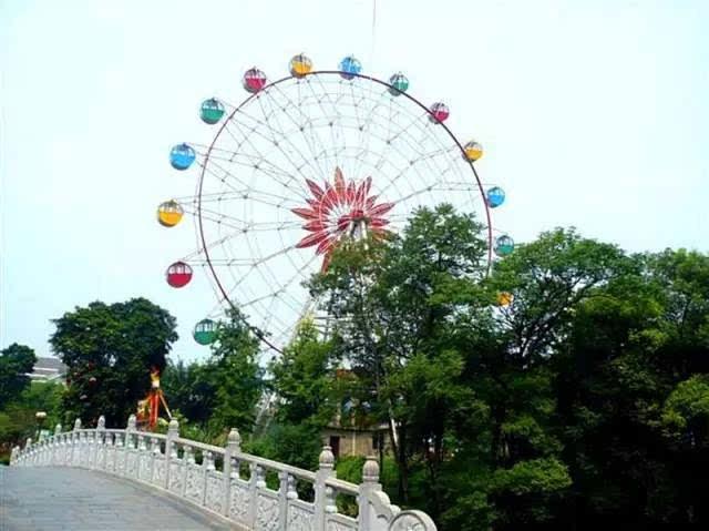 桂林市区目前只有联达广场园林植物园那有一座迷你摩天轮,目测也就20图片