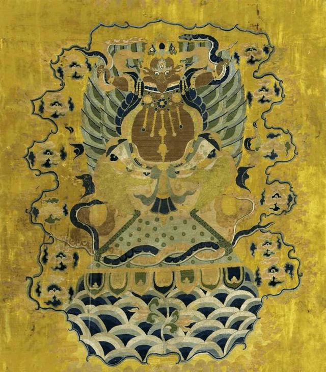 大鹏金翅鸟(伽楼罗)唐卡