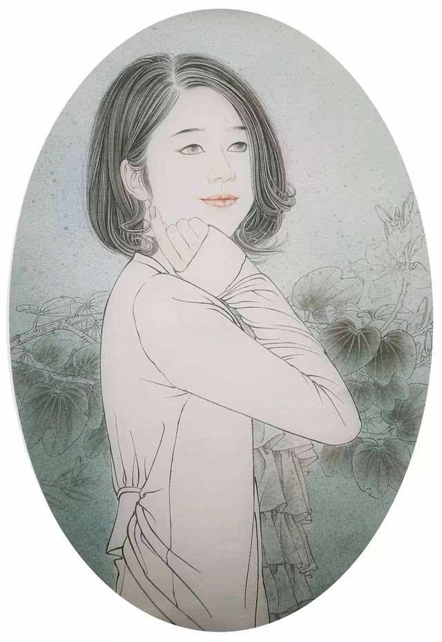 视频图文 现代都市女性工笔画技法汤仙虎教学教程图片