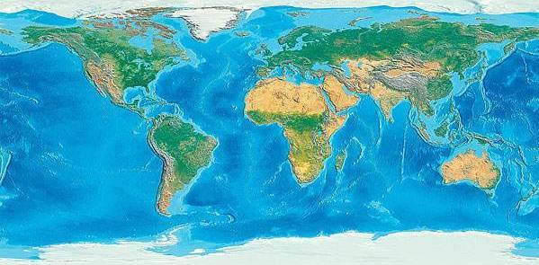 世界陆地地形结构有哪些基本特征?