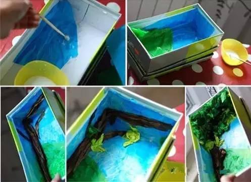 幼儿园废旧纸盒的新玩法,看看有收获!图片