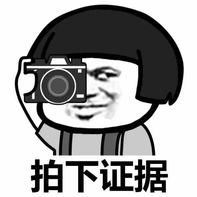 一组拍照表情包图片