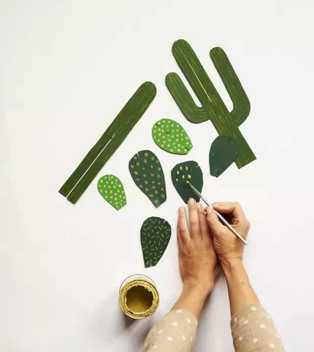 幼儿园各种仙人掌diy手工制作