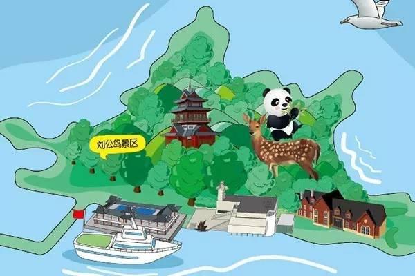威海城区旅游手绘地图带你轻松玩转威海!