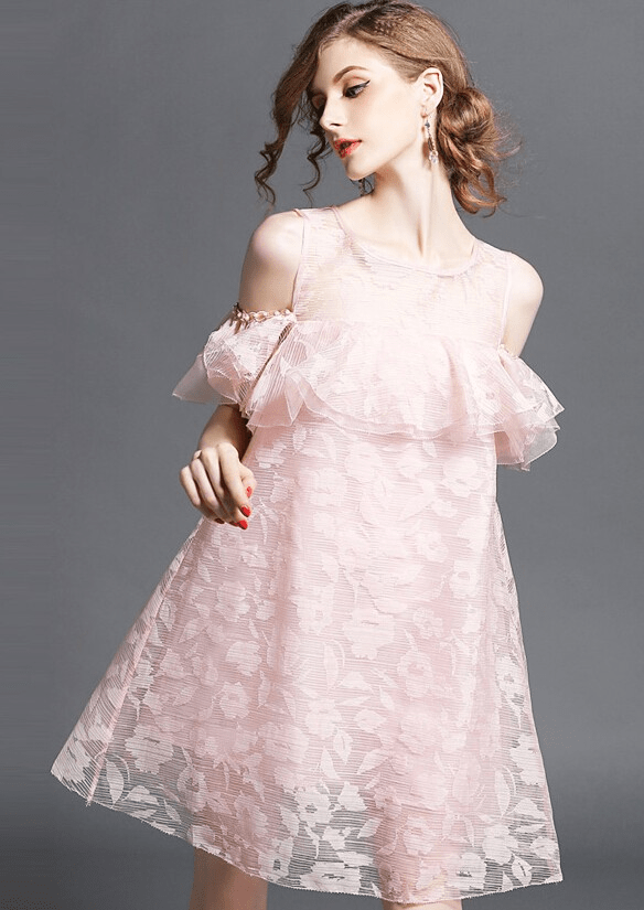 欧根纱连衣裙,穿上可以立刻减龄