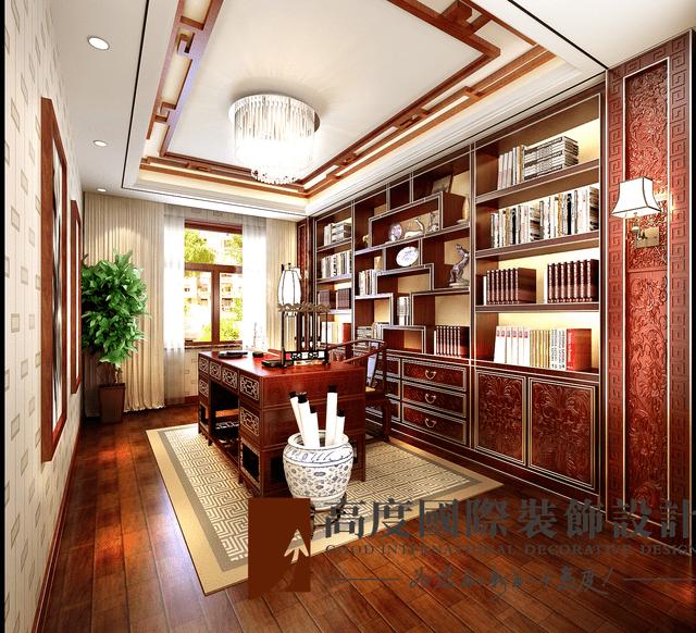 中式古典风格装修案例效果图——客厅