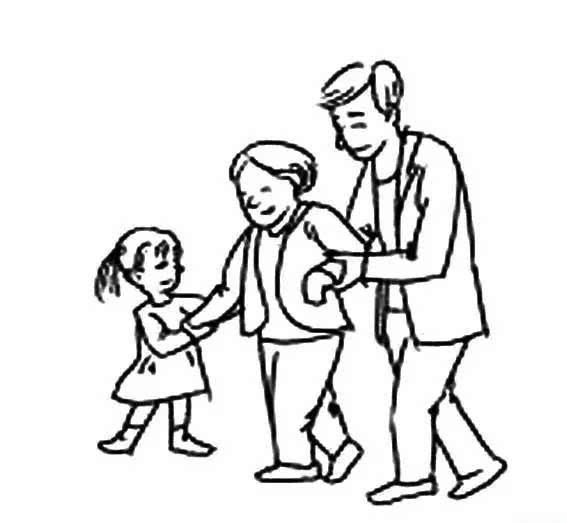 儿童简笔画 尊老爱幼,让孩子从小养成好习惯