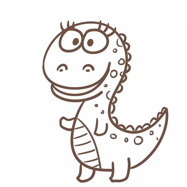 如何画好一只迷人的恐龙?【简笔画】