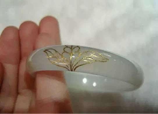 手镯修复 这样的金镶翡翠手镯,也很美图片