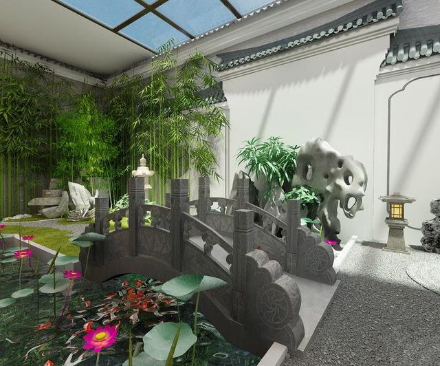 贵阳某世界的中式v世界,在花园里搭出个苏式园林!别墅室内设计史网盘图片