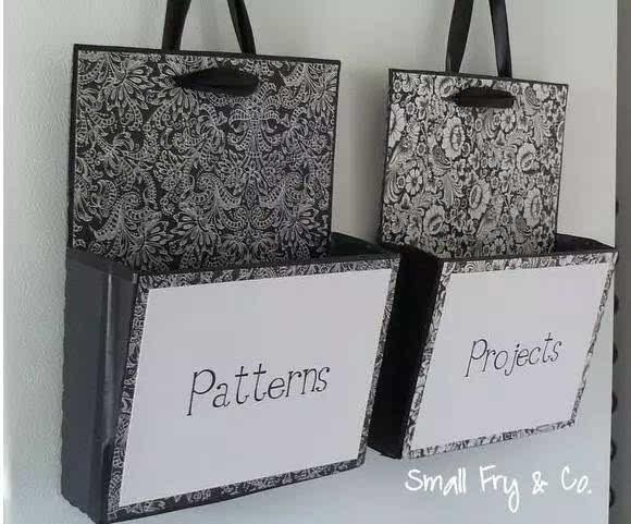 手工制作鞋盒包包