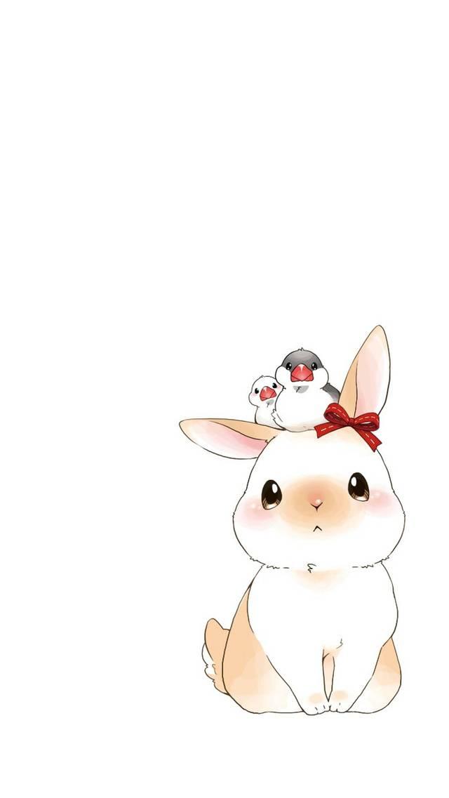 超萌可爱卡通兔子 | 手机壁纸
