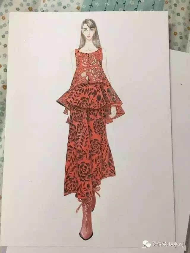 时装手绘 | 服装设计款式图分享:9款美美的手绘图,你喜欢吗?