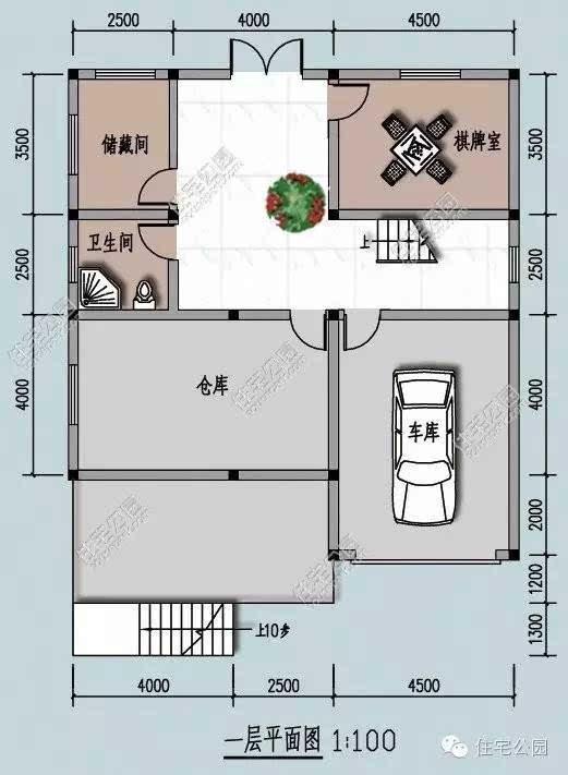 房屋顶部开设多个天窗天井,可保障室内正常采光图片