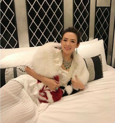 章子怡的慕思床垫,柔软舒服啊,背景采用硬包,黑白相间,对比强烈,设计图片