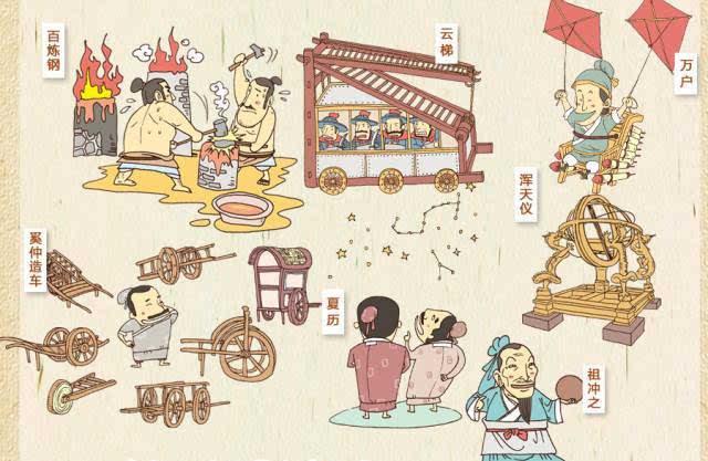 《手绘中国历史地图》每个朝代包含两个跨页.