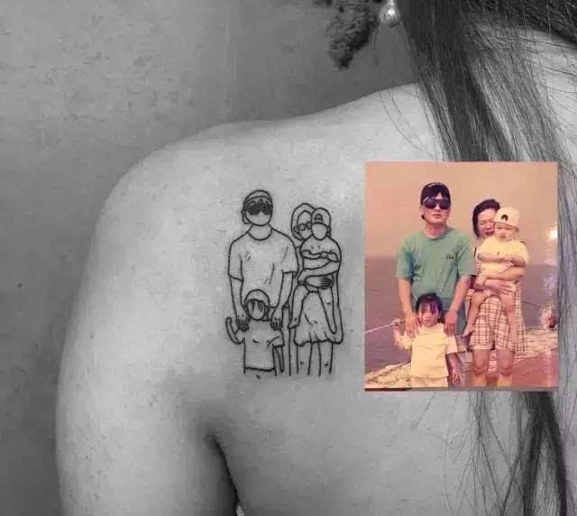 这些简约不简单的纹身才是你想要的吧!图片