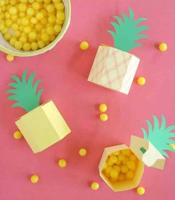 菠萝图片手工制作