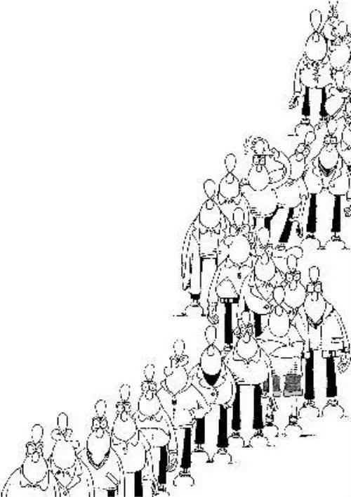 公益票排队漫画图片