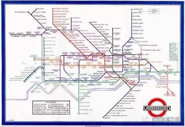 1933年伦敦地铁线路图图片