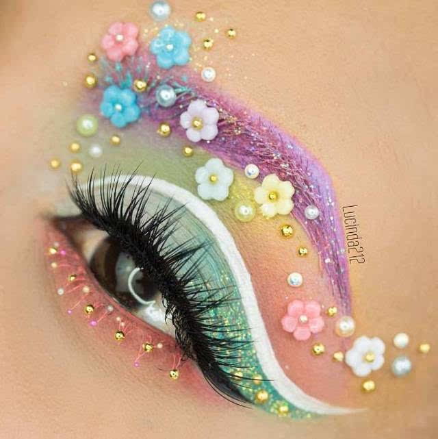 超惊艳的创意花仙子眼妆,美到挪不开眼!